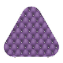 FAUX purple quilted leather, diamante Speaker