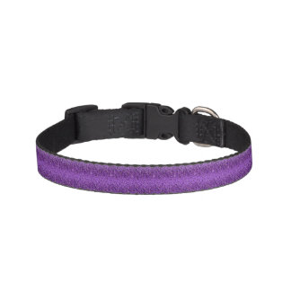 Faux Purple Sparkle Glitter Dog Collar