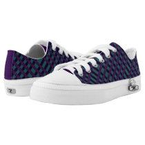 Faux Purple Teal Burlap Design  Zip Z shoes
