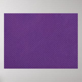 Faux Purple Texture Poster