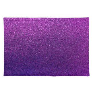 Faux Purple Violet Glitter Background Sparkle Cloth Placemat