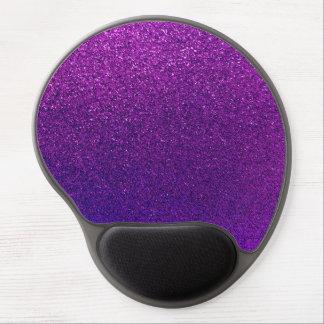 Faux Purple Violet Glitter Background Sparkle Gel Mouse Pad