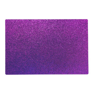 Faux Purple Violet Glitter Background Sparkle Placemat