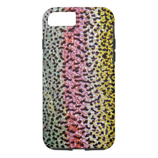 Faux Rainbow Trout Scale Texture Look Pattern iPhone 7 Case