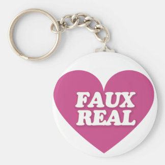 Faux Real Basic Round Button Keychain