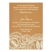 FAUX recycle paper, ivory lace invites