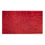 Faux red alligator leather business card