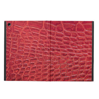 Faux red alligator leather case for iPad air