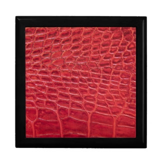 Faux red alligator leather keepsake box
