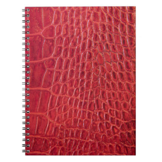 Faux red alligator leather note books
