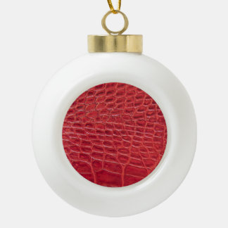 Faux red alligator leather ornaments