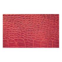 Faux red alligator leather rectangular sticker