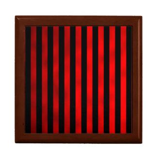 Faux Red Black Horizontal Stripes Striped Ribbon Gift Box