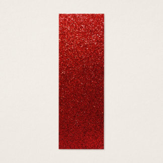 Faux Red Burgundy Glitter Background Sparkle Mini Business Card