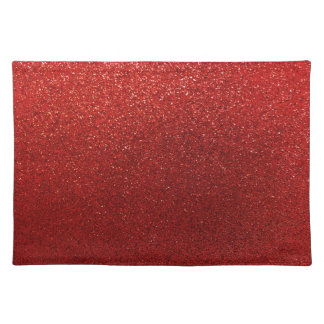 Faux Red Burgundy Glitter Background Sparkle Placemat