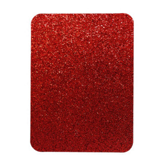 Faux Red Burgundy Glitter Background Sparkle Rectangular Photo Magnet