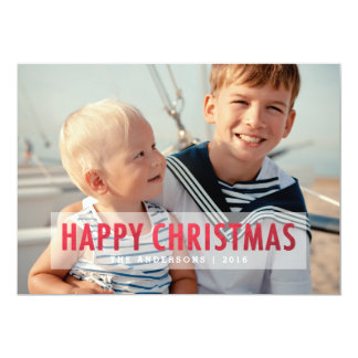 Faux Red Foil Christmas | Holiday Photo Greeting Card