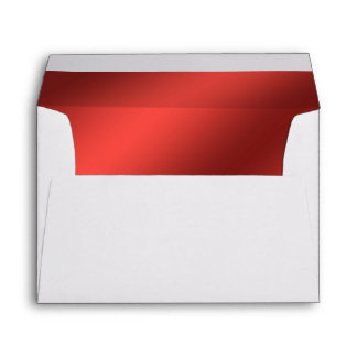Faux Red Foil Lined Envelope