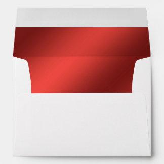 Faux Red Foil Lined Envelope