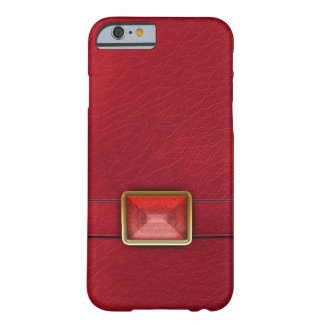 Faux Red Leather And Matching Gem iPhone 6 Case