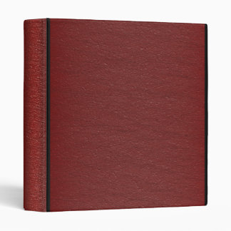 Faux Red Leather - Binder