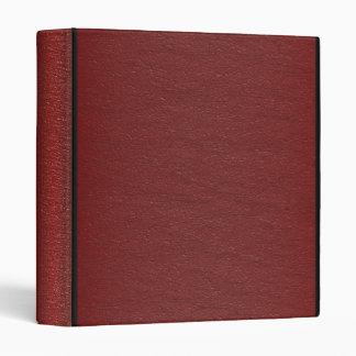 Faux Red Leather - Binder Vinyl Binders