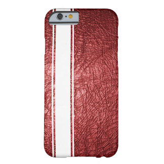Faux Red Leather & White Stripe iPhone 6 Case