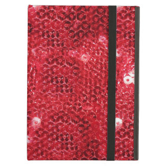 Faux Red Sequin Pattern Image iPad Air Cases