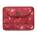 Faux Red Sequin Pattern Image MacBook Pro Sleeve