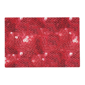Faux Red Sequin Pattern Image Placemat