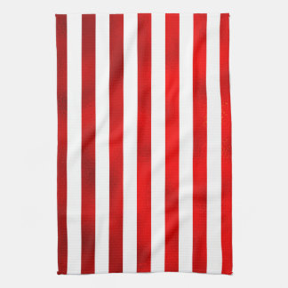 Faux Red White Vertical Stripes U201cCandy Stripeu201d Kitchen Towel
