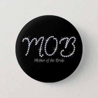 Faux Rhinestone MOTB Pinback Button