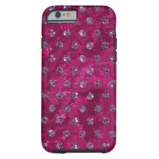 faux rhinestones hot pink design Case-Mate iPhone
