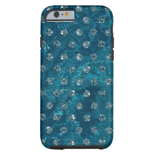 faux rhinestones turquoise design tough iPhone 6 case