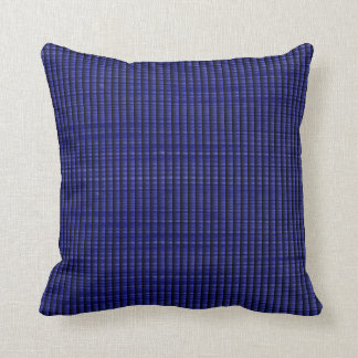 Faux Ribbed Weave - Blue Throw Pillow