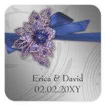 "FAUX ribbon ""navy blue"" envelopes seals"