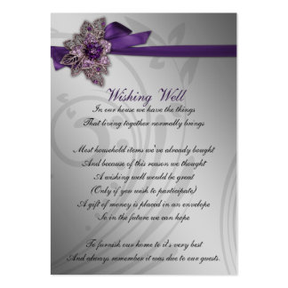 FAUX ribbon purple wishing well cards Large Business Cards (Pack Of 100)