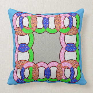 faux ring quilting throw pillow
