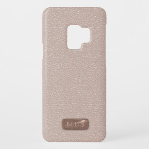 Faux Rose Gold 3D Monogram Blush Pink Phone Case