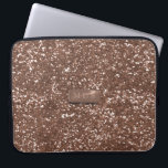 "Faux Rose Gold 3D Monogram Glitter Laptop Sleeve<br><div class=""desc"">Don&#39;t mean a thing if it ain&#39;t got that bling. And this tech sleeve has a lot of bling - rose gold glitter type bling. It&#39;s a printed effect and not real so it won&#39;t give you GFS (glittery finger syndrome) Add your initials and call it yours. Check out the...</div>"