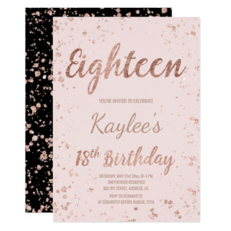 18th Birthday Party Invitations Announcements Zazzle