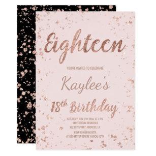 18th birthday invitations 2000 18th birthday announcements invites faux rose gold confetti blush 18th birthday invitation filmwisefo