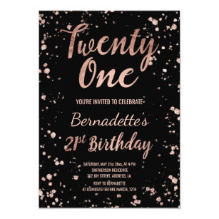 21st Birthday Invitations Announcements Zazzle