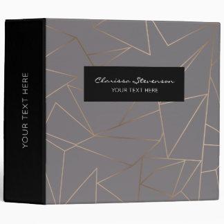 Faux rose gold elegant modern minimalist geometric binder