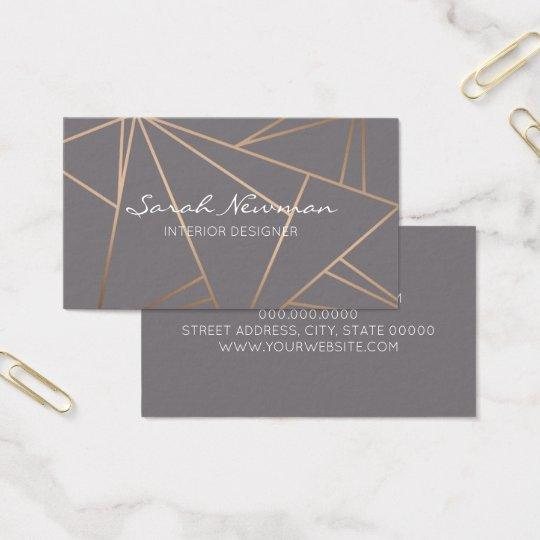 Faux rose gold elegant modern minimalist geometric business card faux rose gold elegant modern minimalist geometric business card reheart Gallery