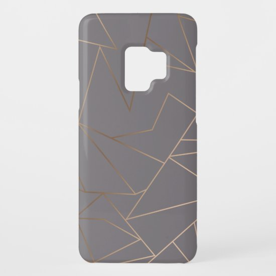Faux rose gold elegant modern minimalist geometric Case-Mate samsung galaxy s9 case