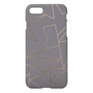 Faux rose gold elegant modern minimalist geometric iPhone 8/7 case