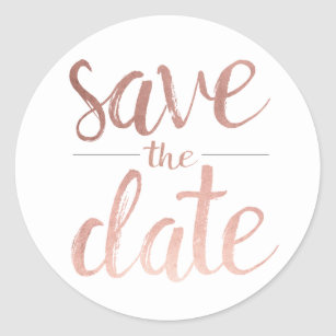 gold save the date stickers zazzle