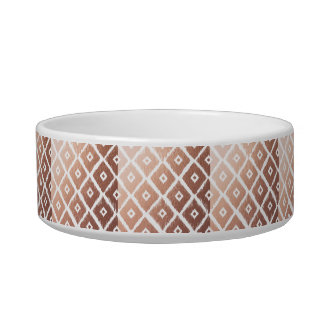 Faux Rose Gold Foil Tribal Pattern Bowl