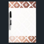 "Faux Rose Gold Foil Tribal Pattern Dry-Erase Board<br><div class=""desc"">Faux Rose Gold Foil Tribal Pattern</div>"